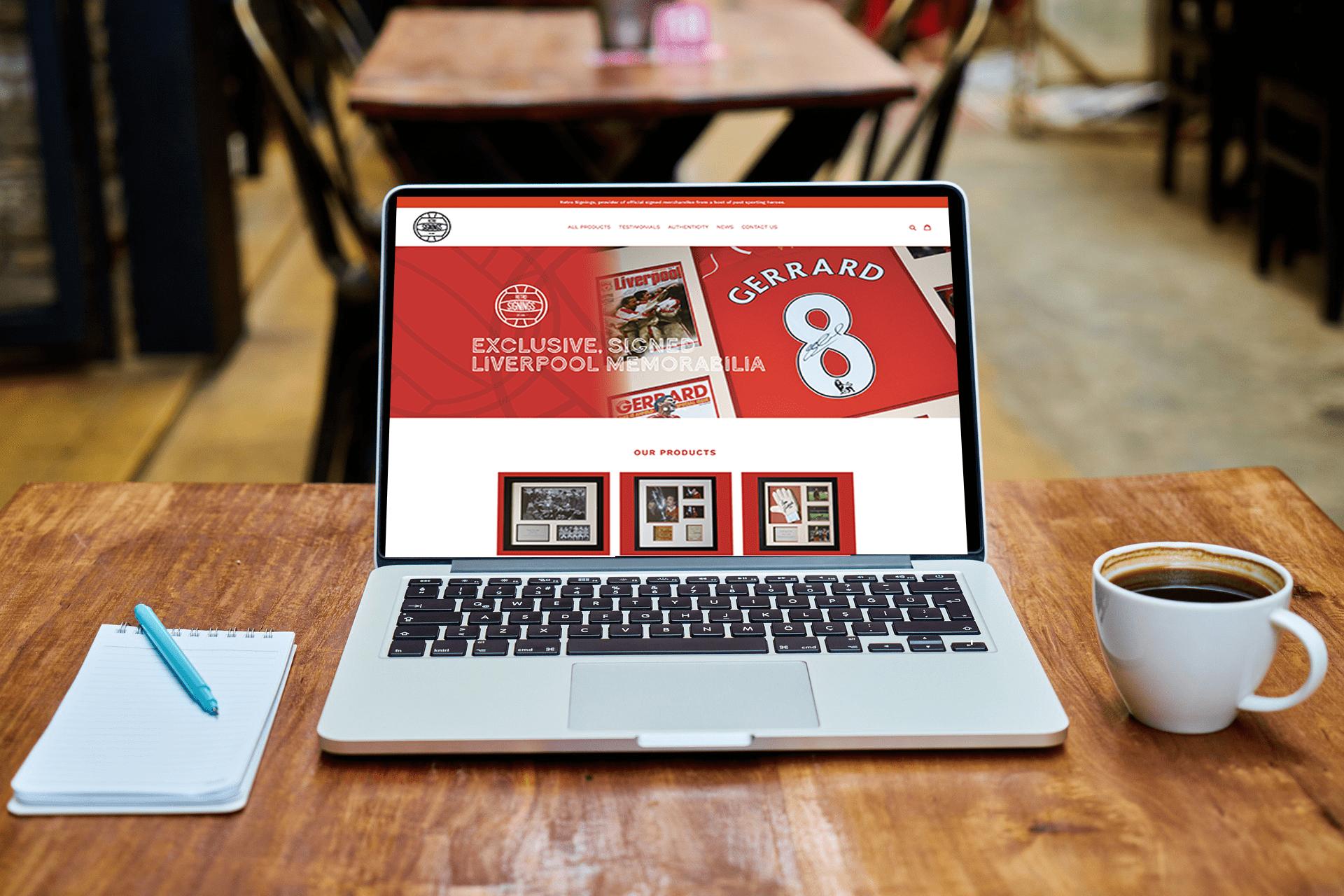 Retro Signings Website Design Liverpool
