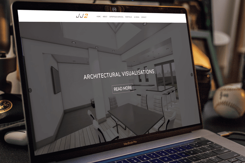 JJ2 Architects website design by Character Creates